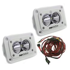 Baja Designs S2 Pro LED Light 21W, Infälld montering, Vit, 2-pack