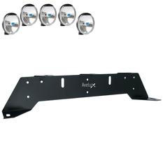 Rally 5, Extraljusfäste, fem lampor (max 175mm)