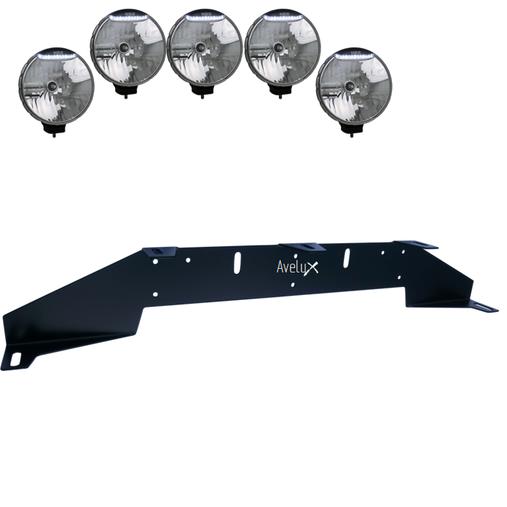 Rally 5, Extraljusfäste, fem lampor (max 225mm)