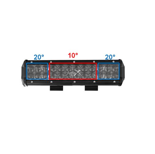 """Avelux DRC-12"""" LED Extraljusramp 2-pack"""
