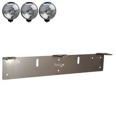 Extraljusfäste Rostfritt, tre lampor ᵒᵒᵒ (210-225mm)