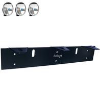 Extraljusfäste, tre lampor ᵒᵒᵒ (140-180mm)