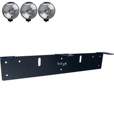 Extraljusfäste, tre lampor ᵒᵒᵒ (210-225mm)
