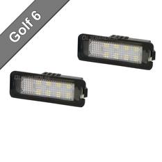 VW Golf 6 Skyltbelysning LED