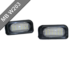 Mercedes W203 4D Skyltbelysning LED