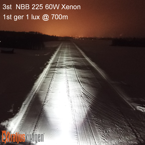 NBB 225 Xenon 60W Inbyggd ballast 3-pack + LED-ramp