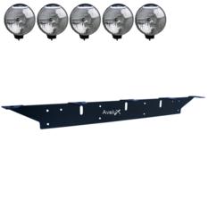 Extraljusfäste, fem lampor (max 225mm)