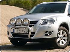 X-rack VW Tiguan Sport & Style 08-11 för 3 extraljus
