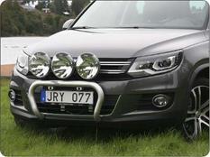 X-rack VW Tiguan Sport & Style 12-15 för 3 extraljus